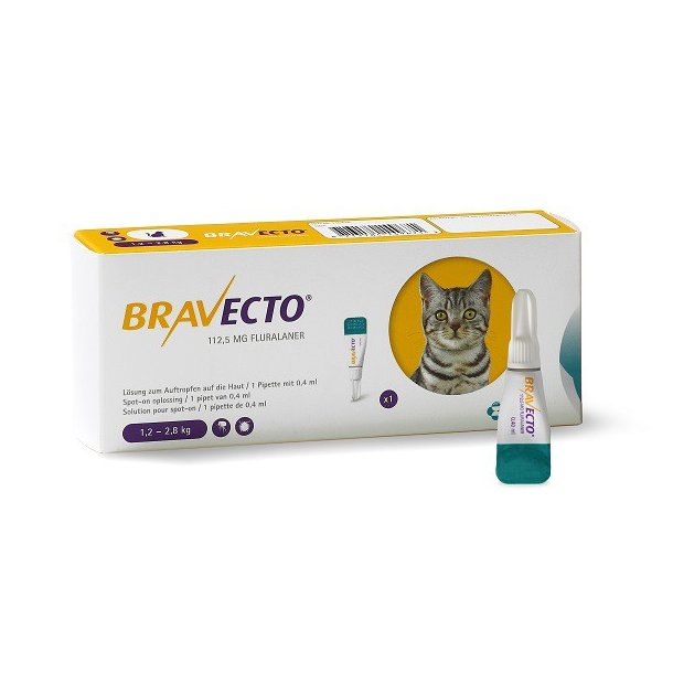 Bravecto spot on, 112,5mg Fluralanerum.Receptplig*