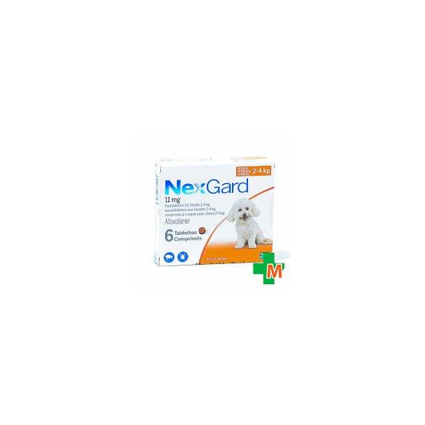 Nexgard tyggetab.11mg (2-4kg),6stk, receptpligtig*