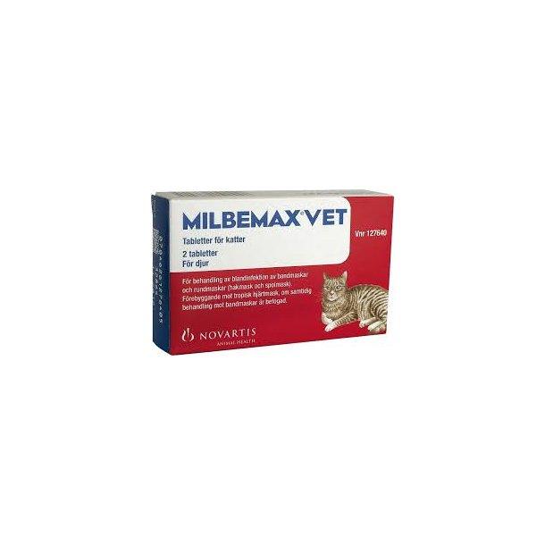 Milbemax ormekur. 2 tabletter. OBS: Receptpligtig!